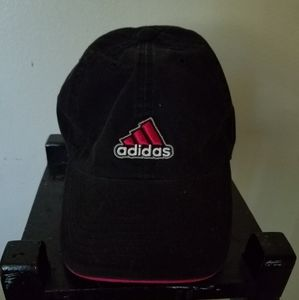 Black and pink Adidas hat